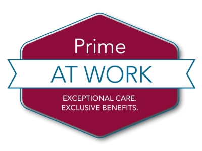 Prime at work. Exceptional care, exclusive benefits